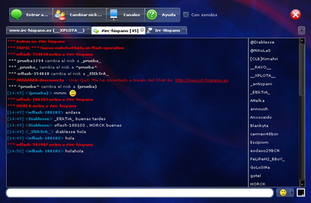 Chat en Flash de Xplota Soluciones
