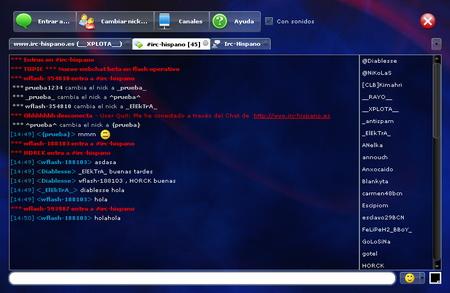 Chat en Flash de Xplota Soluciones