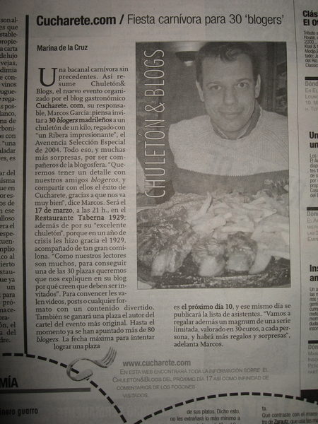 chuleton blogs prensa peque ¡Chuletón & Blogs en la prensa!
