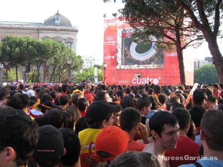 Final Eurocopa en la Plaza de Colón