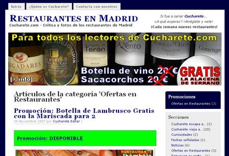 Ofertas en Restaurantes de Madrid - Cucharete.com