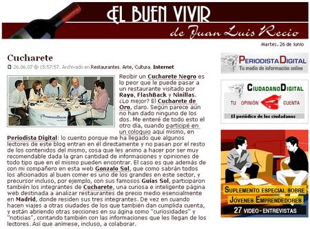 Juan Luis Recio habla de Cucharete
