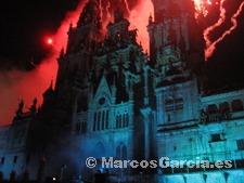 Queda de la fachada de la Catedral de Santiago de Compostela 2008