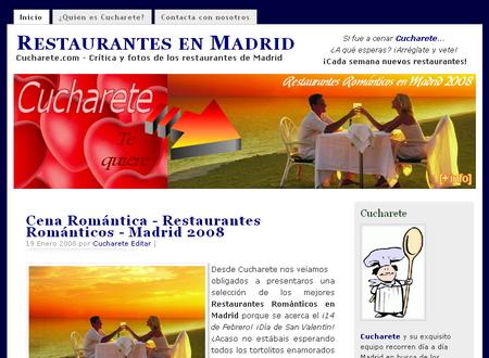Restaurantes Románticos en Madrid - Cucharete.com
